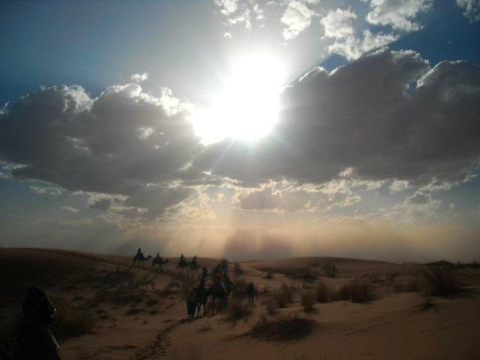 Sandstorm in Sahara Desert, Morocco