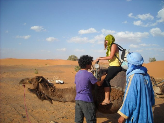 Camel Ride Sahara Desert