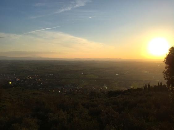 Cortona, Italy sunset