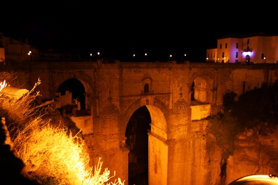 Ronda, Spain at night