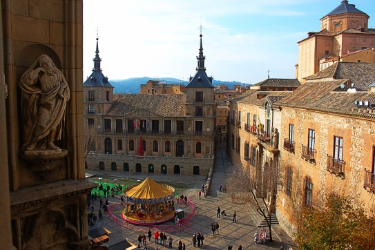 Views from the Toledo Cathedral Bell Tower, Toledo, Spain