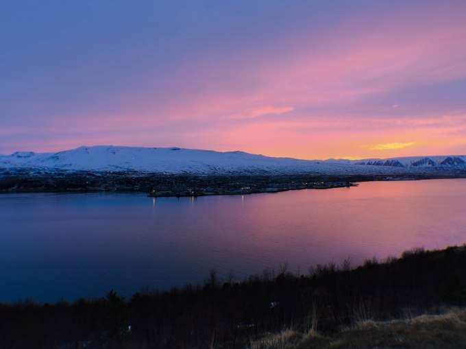 Akureyri at Sunset