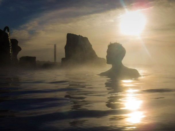 Myvatn Nature Baths Sunset Iceland
